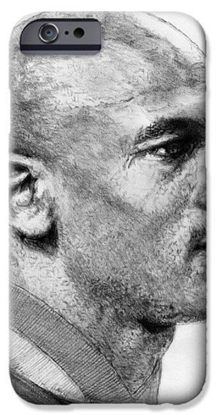 Michael iPhone Cases - Michael Jordan in 1990 iPhone Case by J McCombie
