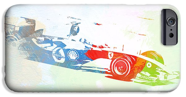 Racing Photographs iPhone Cases - Michael Schumacher iPhone Case by Naxart Studio