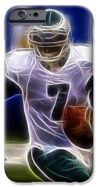 Michael Vick - Philadelphia Eagles Quarterback iPhone Case by Paul Ward