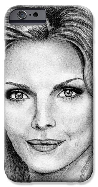 Michelle Pfeiffer iPhone Cases - Michelle Pfeiffer in 2010 iPhone Case by J McCombie