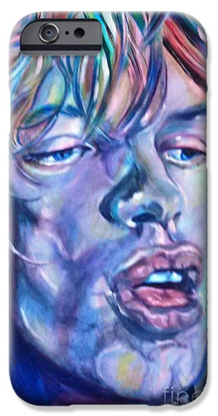 Mick Jagger Paintings iPhone Cases - Mick Jagger 1 iPhone Case by Misty Smith