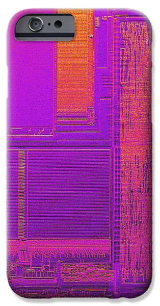 Microchip, Sem iPhone Case by Power And Syred