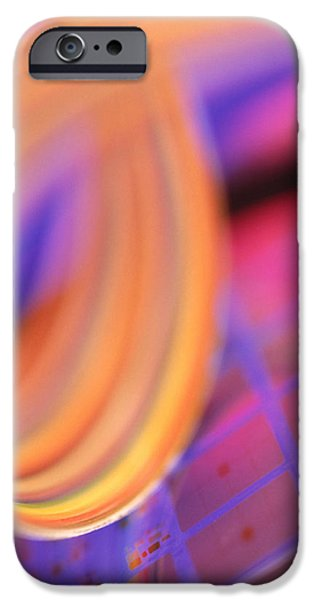 Electronic iPhone Cases - Microchip Wafer iPhone Case by Chris Knapton