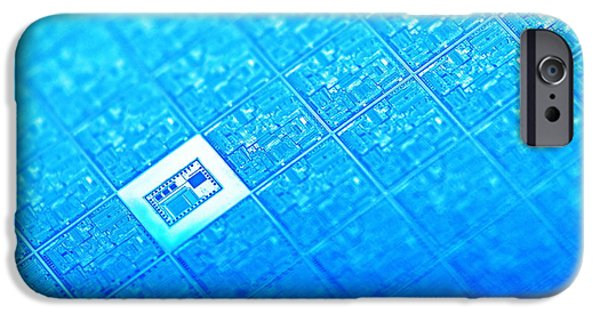 Microchip Photographs iPhone Cases - Microchip Wafer iPhone Case by Pasieka