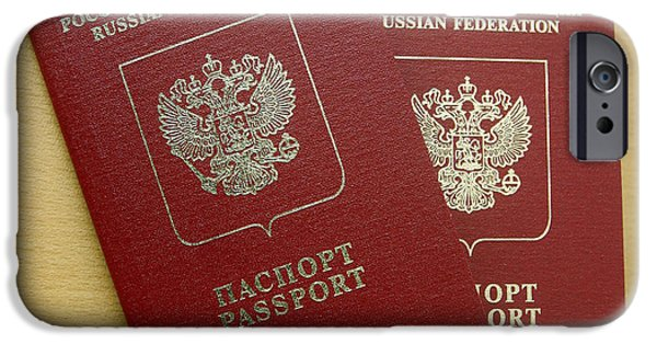 Microchip Photographs iPhone Cases - Microchipped Passports, Russia iPhone Case by Ria Novosti