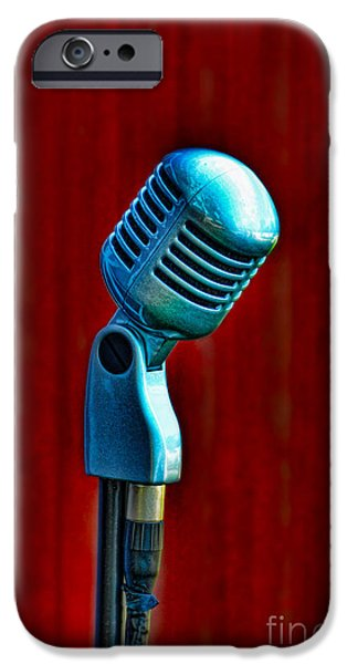 Technology iPhone Cases - Microphone iPhone Case by Jill Battaglia