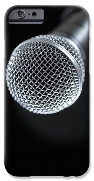 Electrical Equipment iPhone Cases - Microphone iPhone Case by Tek Image