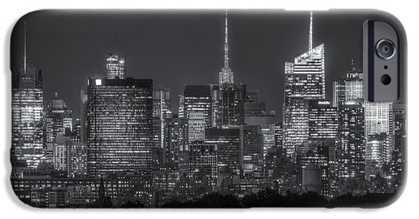 Nast iPhone Cases - Mid-town Manhattan Twilight II iPhone Case by Clarence Holmes