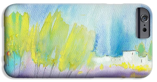 Midday Paintings iPhone Cases - Midday 08 iPhone Case by Miki De Goodaboom