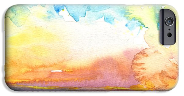 Midday Paintings iPhone Cases - Midday 26 iPhone Case by Miki De Goodaboom