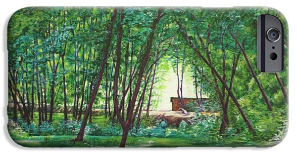 Midday Paintings iPhone Cases - Midday Slumber -Indian Landscapes iPhone Case by Usha Shantharam