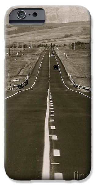 Middle of the Road iPhone Case by David  Hubbs