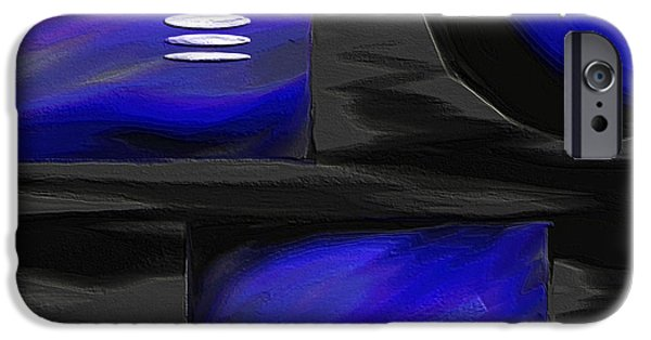 Ely Arsha iPhone Cases - Midnight iPhone Case by Ely Arsha