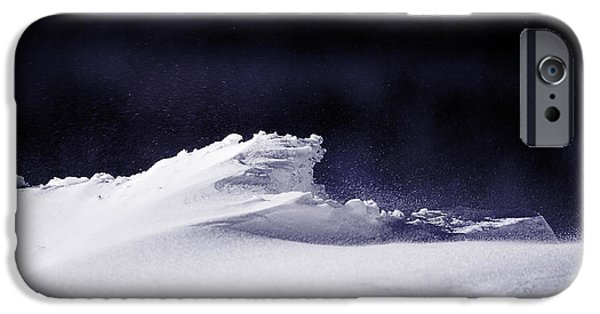 Drifting Snow Photographs iPhone Cases - Midnight in January iPhone Case by Susan Capuano