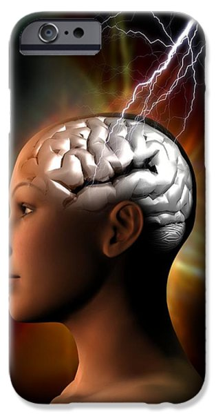 Migraine, Conceptual Artwork iPhone Case by Victor Habbick Visions