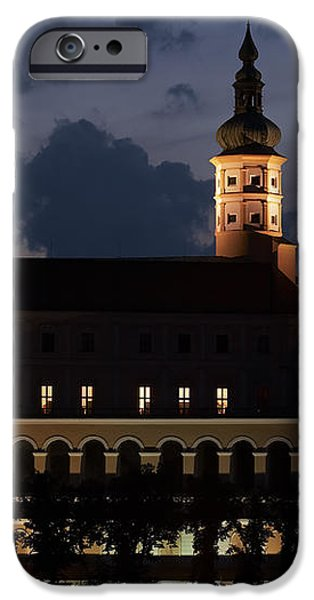 Mikulov castle at night iPhone Case by Michal Boubin