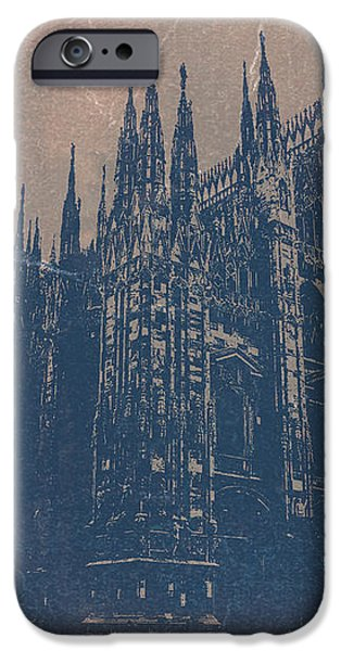 Milan Cathedral iPhone Case by Naxart Studio
