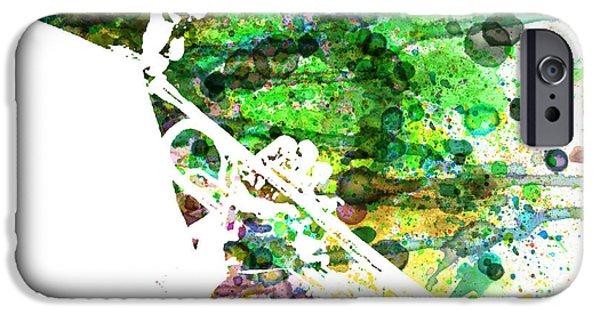 New York City Paintings iPhone Cases - Miles Davis 2 iPhone Case by Naxart Studio