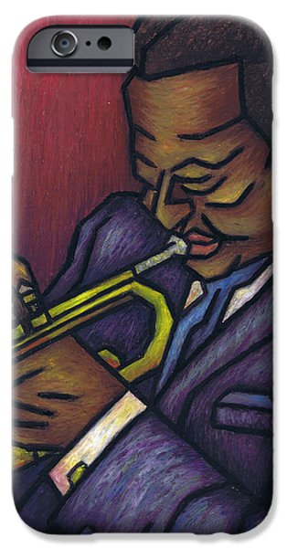 Music Pastels iPhone Cases - Miles Davis iPhone Case by Kamil Swiatek