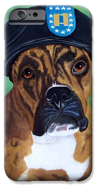 Military Boxer iPhone Case by Debbie LaFrance