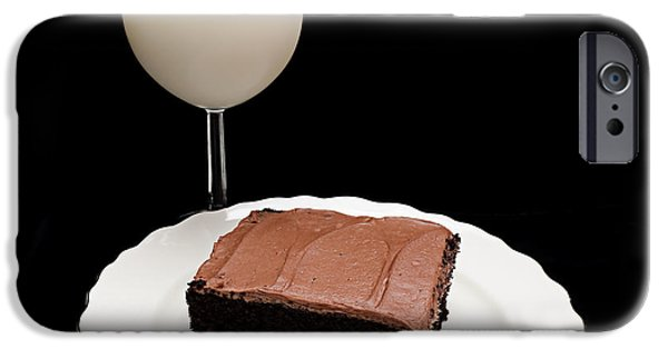 Pleasure iPhone Cases - Milk And Chocolate Cake iPhone Case by Andee Design