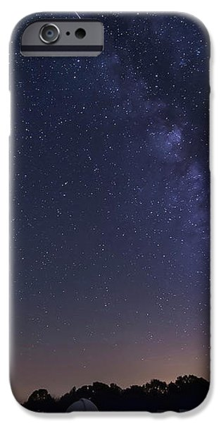 Milky Way And Perseid Meteor Shower iPhone Case by John Davis