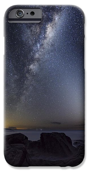 Moonlit Night Photographs iPhone Cases - Milky Way Over Cape Otway, Australia iPhone Case by Alex Cherney, Terrastro.com