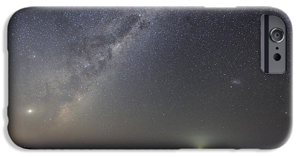 Moonlit Night Photographs iPhone Cases - Milky Way Over Flinders, Australia iPhone Case by Alex Cherney, Terrastro.com