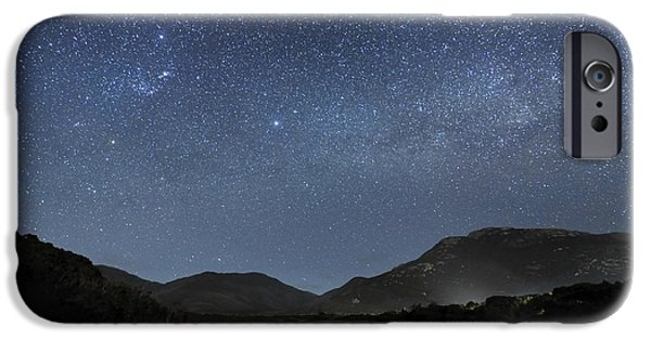 Moonlit Night Photographs iPhone Cases - Milky Way Over Wilsons Promontory iPhone Case by Alex Cherney, Terrastro.com