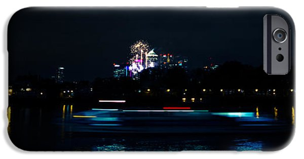 Fireworks iPhone Cases - Millbank Firework Display iPhone Case by Dawn OConnor