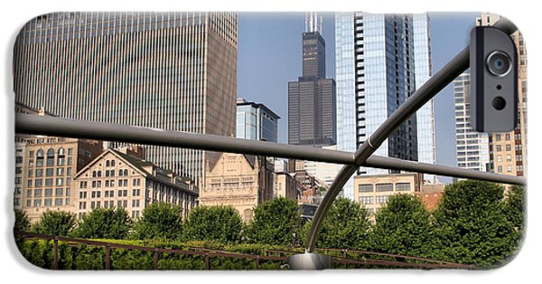 Willis Tower iPhone Cases - Millenium Park - 1 iPhone Case by Ely Arsha