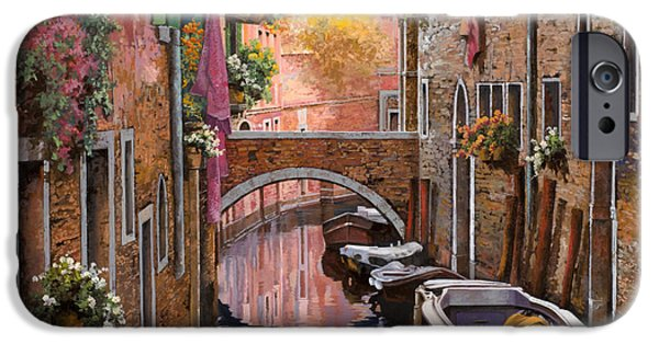 Venice iPhone Cases - Mimosa Sui Canali iPhone Case by Guido Borelli