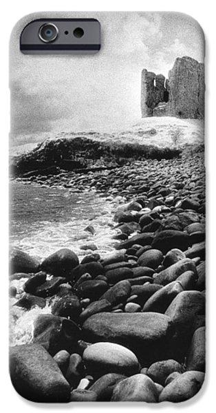 Remains iPhone Cases - Minard Castle iPhone Case by Simon Marsden
