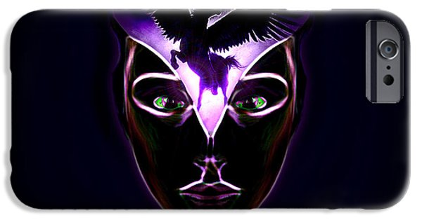 Abstract Digital Drawings iPhone Cases - Mind Horsepower iPhone Case by Vidka Art