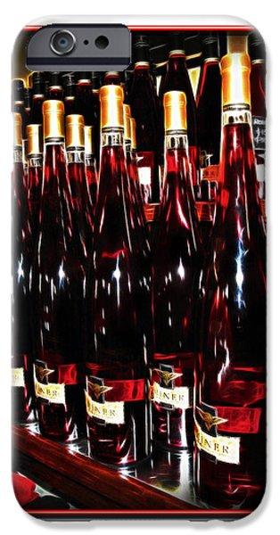 Miner Pink Sparkling Wine iPhone Case by Joan  Minchak