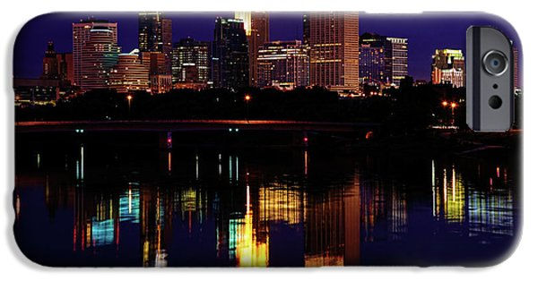 Minnesota iPhone Cases - Minneapolis Twilight iPhone Case by Rick Berk