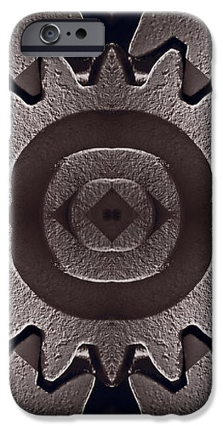 Mirror Gears iPhone Case by Steve Gadomski