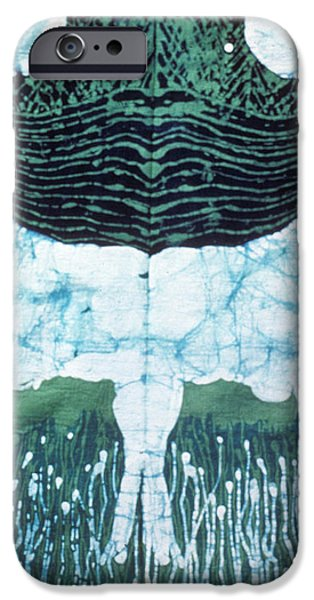 Mirror Image Goats in Moonlight iPhone Case by Carol Law Conklin