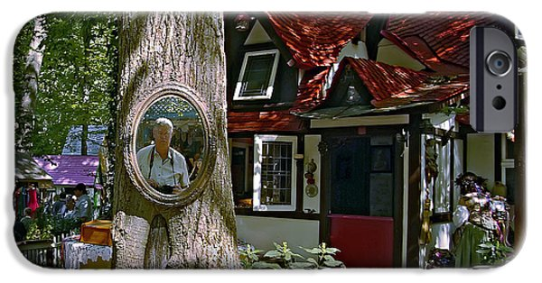 Village iPhone Cases - Mirror Mirror On The Tree... iPhone Case by Brian Wallace