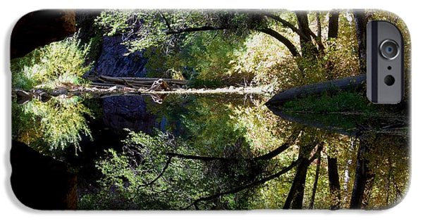 West Fork iPhone Cases - Mirror Reflection iPhone Case by Tam Ryan