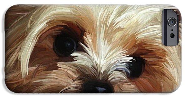 Pups iPhone Cases - Mischief iPhone Case by Patti Siehien