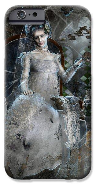Concept iPhone Cases - Miss. Havisham iPhone Case by Karen H