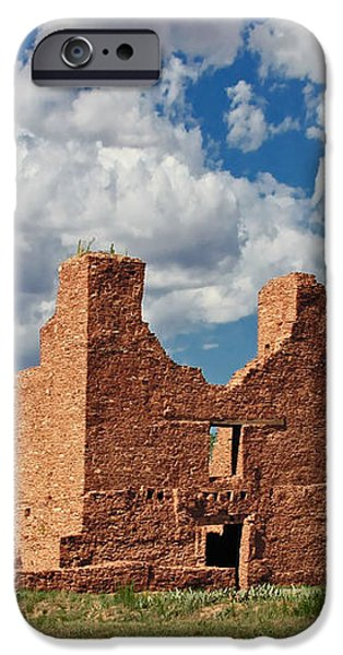 Mission to Quarai New Mexico iPhone Case by Christine Till