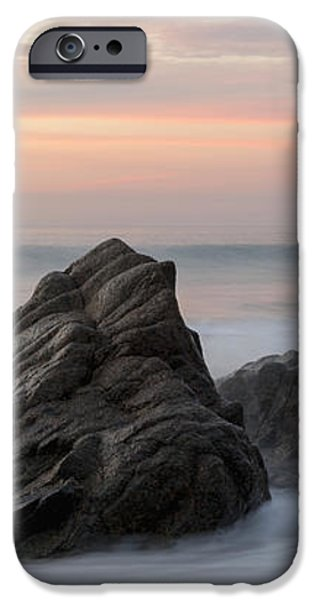 Mist Surrounding Rocks In The Ocean iPhone Case by Keith Levit