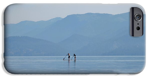 Board iPhone Cases - Misty Morning Hop iPhone Case by Mitch Shindelbower