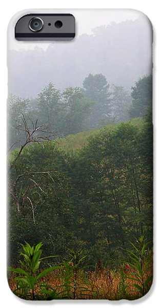 Misty Morning on the Farm iPhone Case by Thomas R Fletcher