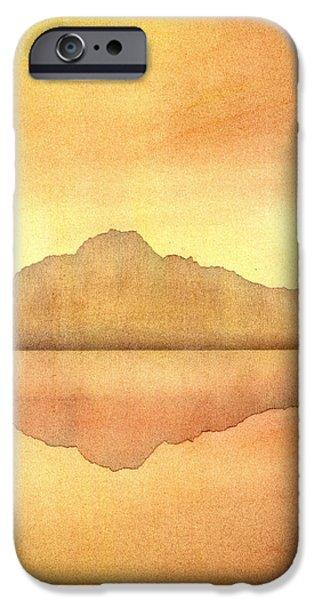 Reflection Pastels iPhone Cases - Misty Sunset iPhone Case by Hakon Soreide