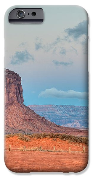 Mitchell Butte in Monument Valley iPhone Case by Clarence Holmes