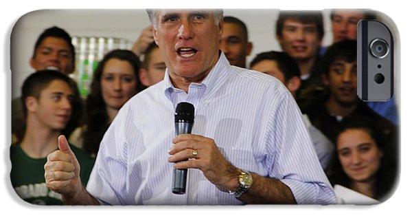 Mitt Romney iPhone Cases - Mitt Romney No. 1 iPhone Case by Robert  SORENSEN