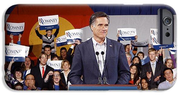 Mitt Romney iPhone Cases - Mitt Romney No. 5 iPhone Case by Robert  SORENSEN